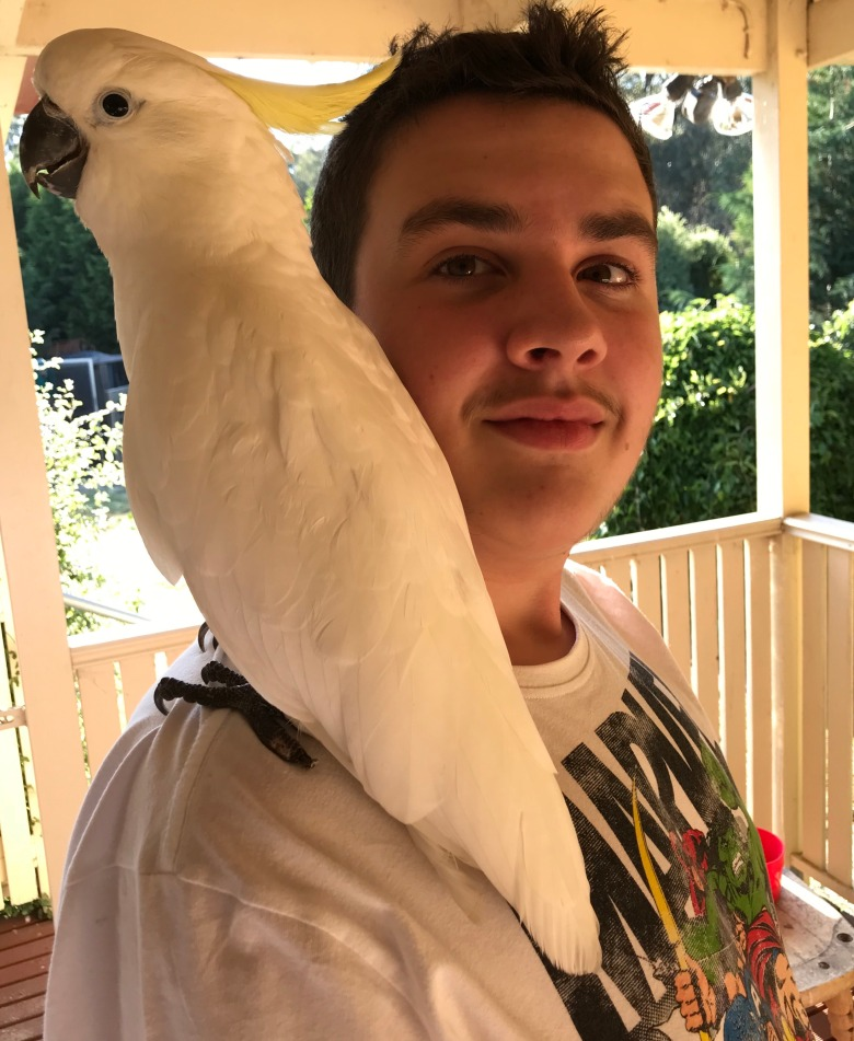 Will Hazzard and Billy the Cockatoo